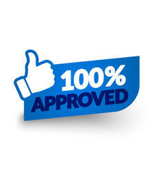100 percent approved label vector