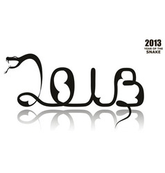 2013 gothic snake vector image