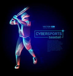 abstract baseball player male figure with bat in vector image