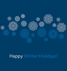 abstract snowflakes header in line style vector image