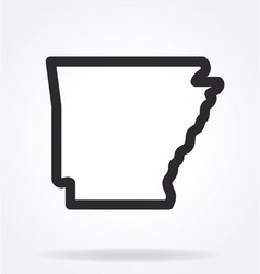 Arkansas ar state map outline simplified vector