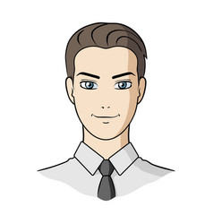 avatar of a man in a shirtavatar and face single vector image