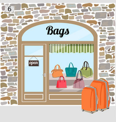 bags shop or bags store vector image