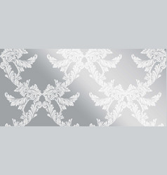 baroque pattern glossy background ornament decor vector image vector image