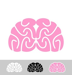 Brain flat brain icon human brain main organ of vector