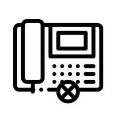 Broken telephone icon outline vector