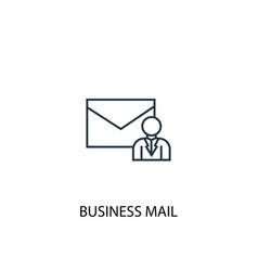 business mail concept line icon simple element vector image