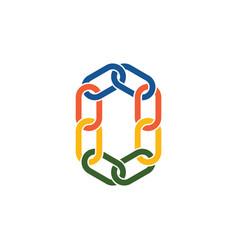 chain link o letter logo symbol sign vector image