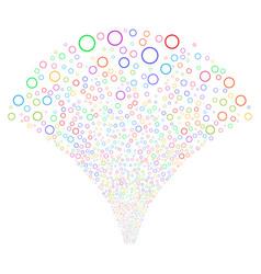 Circle bubble fountain stream vector