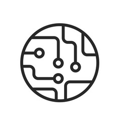 circuit board icon vector image