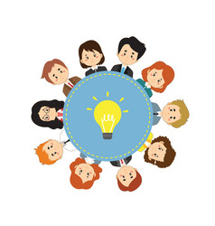 collaborative people concept vector image