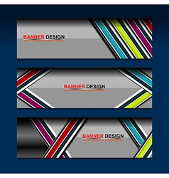 color banner template modern design vector image