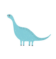 cute long-necked dinosaur isolated on white vector image