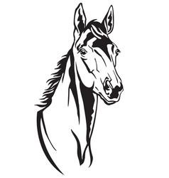Decorative horse 2 vector