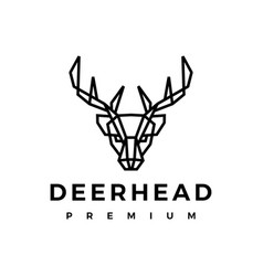 deer head logo icon vector image