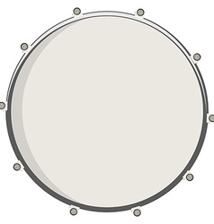 Drum top view vector