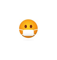 Emoji mask face character during coronavirus vector