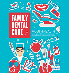 Family dental care and diagnostic clinic vector