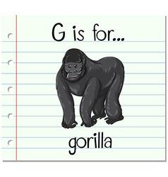 Flashcard letter G is for gorilla vector