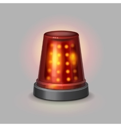 Flasher police siren red color realistic vector