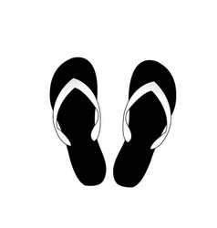 flip flops icon isolated on white background vector image
