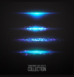 Glowing light effcets collection vector
