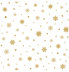gold snowflakes on white background christmas vector image