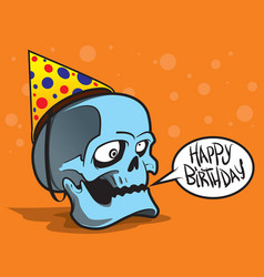 greeting card with skull vector image