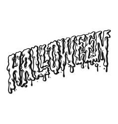 halloween typography silhouette vector image