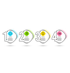 Handout road banner and recycling icons payment vector