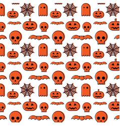 Happy halloween pattern background vector