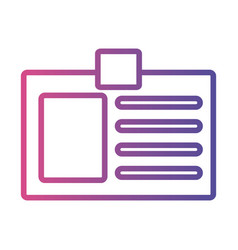 Id document linear gradient style icon vector