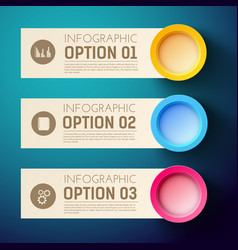 Infographics background with three horizontal vector