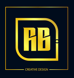 Initial letter rb logo template design vector