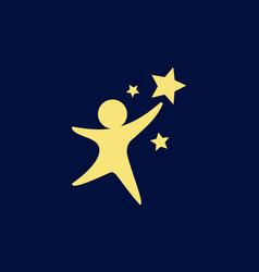 Kid dreams logo vector
