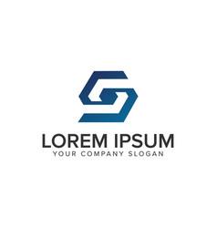 letter s logo design concept template vector image