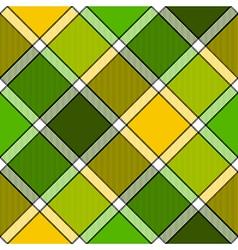 Lime color diagonal check plaid seamless pattern vector