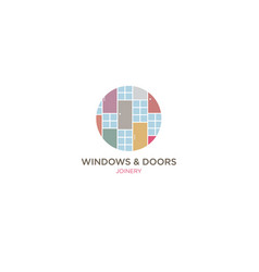 Logo joinery windows doors joiners workshop vector
