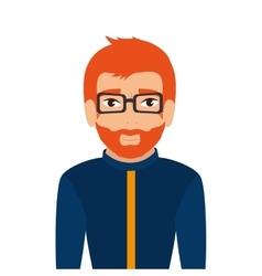 man guy boy person glasses vector image