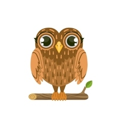 Owl Friendly Forest Animal vector image