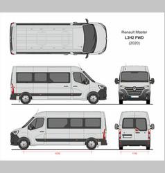 Renault master passenger van l3h2 fwd 2020 vector