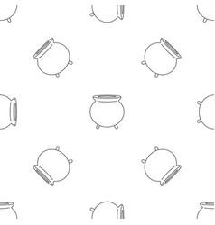 retro cauldron pattern seamless vector image