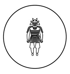 samurai japan warrior icon in circle outline vector image