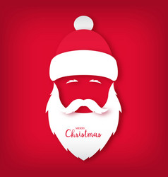 santa claus avatar paper art style christmas vector image