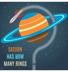 Saturn Flat Design Concept vector