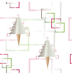 Seamless pattern with christmas trees vector