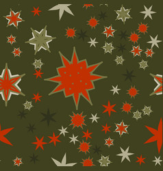 Seamless texture red on dark green stylized vector