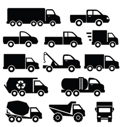 Set of truck icons vector