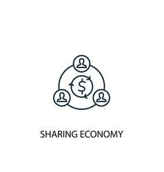 Sharing economy concept line icon simple element vector