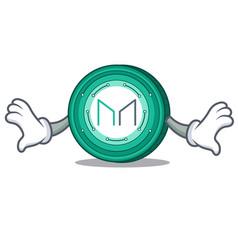 Shock maker coin mascot cartoon vector